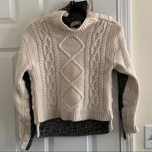 Tory Burch wool two tone button sweater